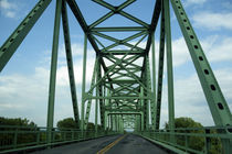 Green bridge in Nebraska