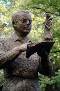 Statue of Saint Exupery in the Royal Garden, Toulouse, France by bob bingenheimer