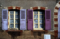 Colorful shutters in rural France by bob bingenheimer
