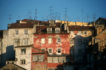 Buildings and TV antennas in Lisbon, Portugal by bob bingenheimer