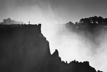 Silhouette at Victoria Falls by Russell Bevan Photography