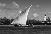 Zanzibar Dhow & Lighthouse by Russell Bevan Photography