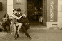 Tango B&W 4 Buenos Aires La boca von Leandro Bistolfi