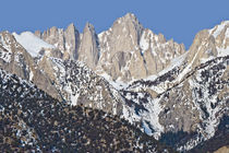 Mount Whitney Sierra Range California in winter by Ed Book