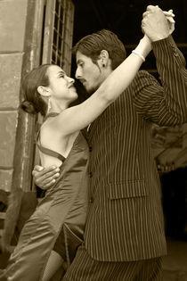 Tango B&W 2 Buenos Aires La boca von Leandro Bistolfi