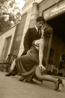 Tango B&W 3 Buenos Aires La boca von Leandro Bistolfi