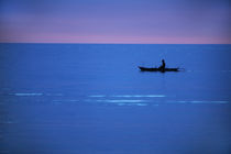 dusk paddler by George S Blonsky