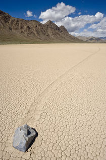 Sliding Rock at the Racetrack Playa Death Valley USA by Ed Book