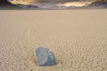 Sliding Rock on the Racetrack Playa 2 by Ed Book