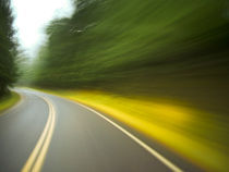 motion blur curve in the road by Ed Book
