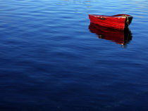 red rowboat by Ed Book