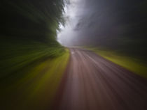 Motion blur curve in the road 2 by Ed Book