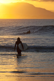 Sunset Surfer Girl von Mike Greenslade