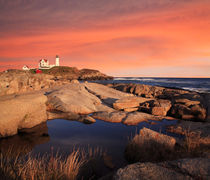 Nubble Light Sunset von Paul Lemke