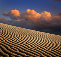 Sand Ripples And Clouds by Paul Lemke