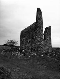 Ruins of an engine house in the middle of a moor near The Minions, Cornwall, UK by Artyom Liss
