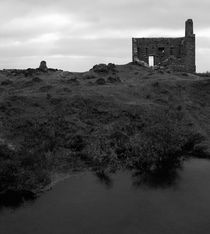 Ruins of an engine house in the middle of a moor near The Minions, Cornwall, UK von Artyom Liss