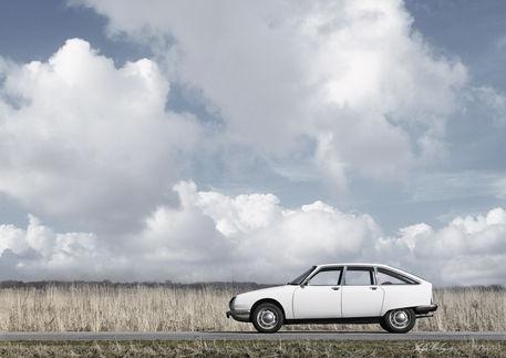 White-citroen-gs-1972