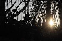 Seeleute arbeiten auf einem Grosssegler by Intensivelight Panorama-Edition