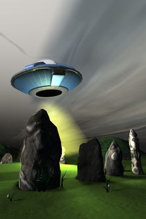 Ancient Stone Circle and UFO von Michael Knight