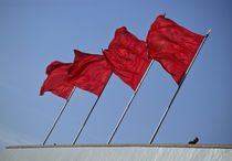 China Red Flags by Stelios Michael