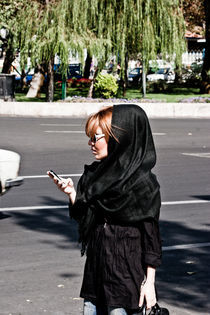 Street style in Tehran by Riccardo Valsecchi