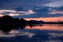 Sonnuntergang Alte Donau von Michael Schickert