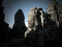 Sunrise at the Bayon von Phil  Caldwell