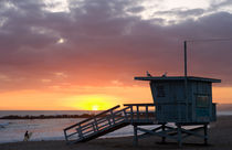 Venice Beach Lifeguard Station von Pete Saloutos