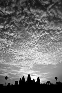 Angkor Wat - Low Angle B&W by Russell Bevan Photography