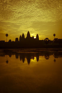 Angkor Wat Sunrise - Orange Tint by Russell Bevan Photography