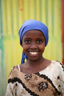 Smiling girl, Somaliland by Mike Greenslade