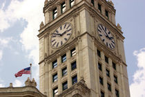 Chicago Wrigley Building Clock Tower by Ian C Whitworth