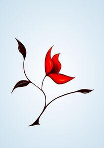 Stange red flower by Boriana Giormova