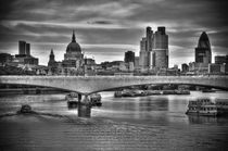 London. The City of London. Skyline and River Thames. by Alan Copson