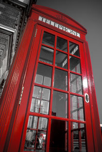London. Big Ben and Telephone Box. by Alan Copson