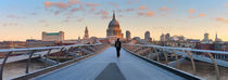 London. St. Paul's Cathedral and Millennium Bridge. by Alan Copson