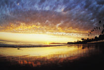Butterfly Beach, California at Sunset by Melissa Salter