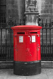 London, Dean's Yard. Post Box. von Alan Copson