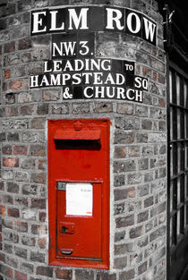 London. Hampstead. Post box. by Alan Copson