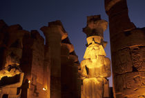 STATUE OF RAMSES II AT ENTRANCE TO GREAT COLONNADE by Wolfgang Kaehler