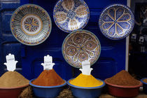 Colorful Spices and Plates