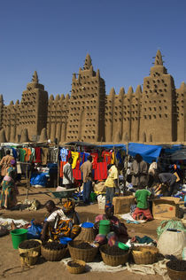 Mud Brick Mosque in Djenne by Wolfgang Kaehler