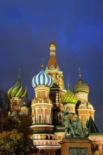 St. Basil's Cathedral at Night by Wolfgang Kaehler