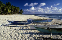 Boats on White Sand Beach by Wolfgang Kaehler