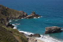 Colorful coastline of Big Sur California..Küste von Big Sur California by Carl Tyer