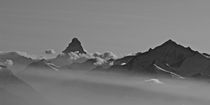 Swiss mountains-Matterhorn - black&white by Andreas Müller