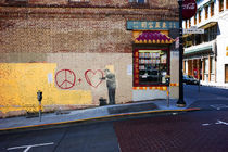 Banksy in Chinatown/San Francisco by Benjamin Hiller