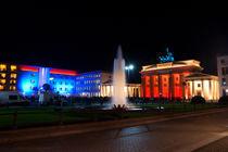 Festival of Lights at the Brandenburger Tor/Berlin von Benjamin Hiller
