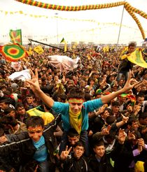 Kurdish Newroz in Diyarbakir/Southeast Turkey von Benjamin Hiller